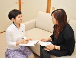 治療前の問診と説明